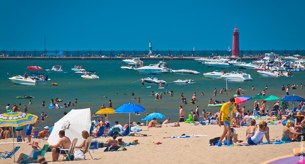 Michigan City Beach Camping